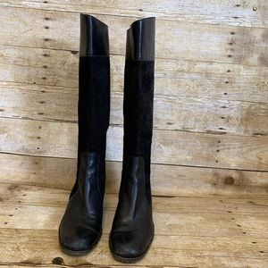 Dark brown leather DKNY boots 8.5